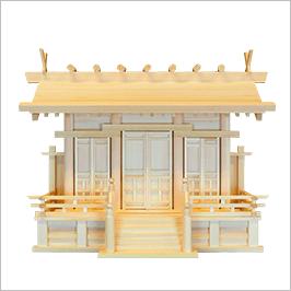 神棚 通し屋根三社 中 本唐戸画像